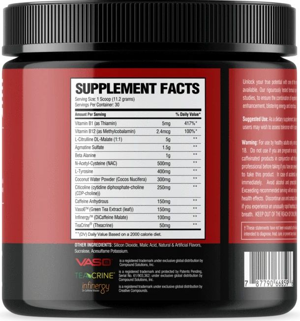 National Bodybuilding Co Pre-Workout Ingredients