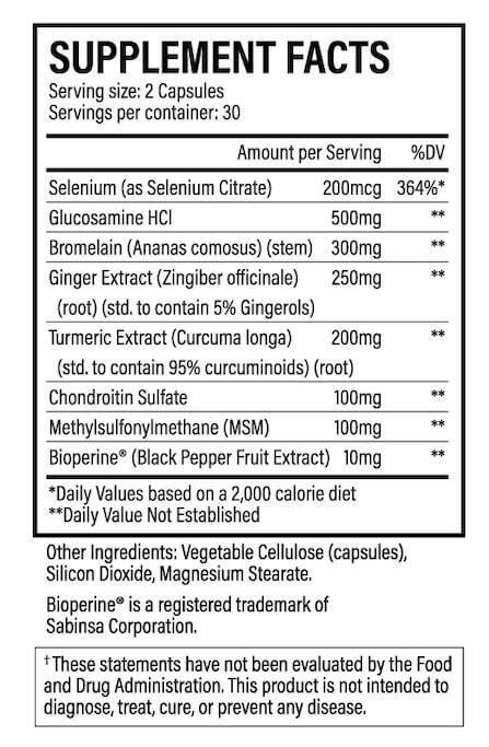 Physio Flex Pro Ingredients